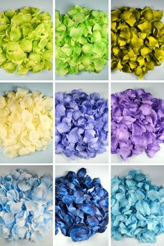 Wedding artificial silk rose petals available in many colors