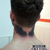 Neck Wings tattoo Mohawk Tattoo Paisley