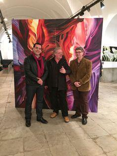 Magnífica exposición de pintura del alemán Dieto Derichs y del Colectivo de Artistas de Conil en Los Barrios.