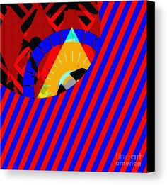 Modern Abstract Canvas Print featuring the digital art Unusual Abstract Eight by Caroline Gilmore