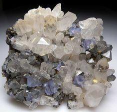 Fluorite, Quartz, Arsenopyrite from Yaogangxian Mine, Hunan, China [db_pics/pics/a911a.jpg]