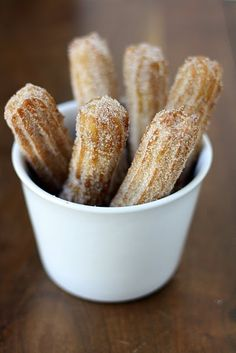 Spanish Churros. mmmm with some 'hot chocolate' and you're ready for a winter in MADRID!