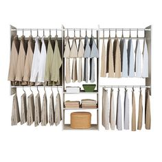 Organize your closet and double the space with this easy-to-install closet storage kit. Add drawers, baskets, shoe shelves or other accessories and compon...
