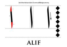 Seni Khat Warisan Islam   Islamic Calligraphy: Tutorial 1 : Khat Nasakh