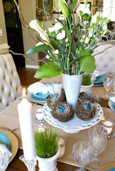 Easter, Spring Tablescape