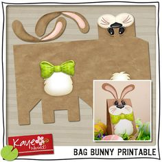 Shop for bunny on Etsy, the place to express your creativity through the buying and selling of handmade and vintage goods. Diy Projects To Try, Craft Projects, Craft Ideas, All Craft, Crafts For Kids, Some Bunny Loves You, Gift Wraping, Easter Crafts, Easter Ideas
