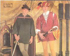 Renaissance Medieval Men's Cape Tunic leggings Costume by Zinnias