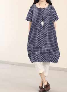 Summer loose knee length dress by MaLieb another idea for scout tunic....