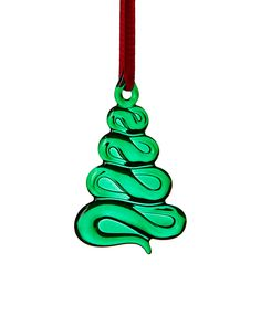 """Spotted this ORREFORS """"Holly Days"""" Crystal Christmas Tree Ornament on Rue La La. Shop (quickly!)."""