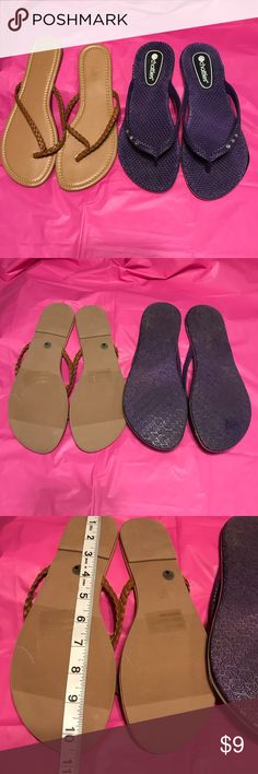 e7be0d6b5429ce Shop Women s Charlotte Russe Chatties Purple Brown size 10   XL Sandals at  a discounted price at Poshmark.