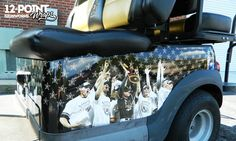 The 4 passenger golf cart for Vanderbilt baseball, featuring the National Champions. 12-Point SignWorks