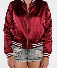 CHAQUETA VINO BÁSICO Jackets For Women, Bomber Jacket, Fashion, Women's Jackets, Woman Clothing, Women, Cardigan Sweaters For Women, Moda, La Mode