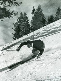 Vintage skiing - great style...only helmet is missing...