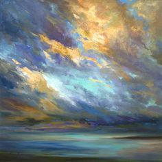 Buy Original Art by Sheila Finch | oil painting | Coastal Clouds XXX at UGallery