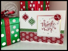Hello everyone! I am so excited to share today's Stampin' Gals Gone Wild Wednesday video freebie! Today I want to share with you a Christmas Card that is a 2 for 1 card. Everyone can use more tha...