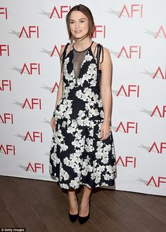 Carry it off like Keira in a monochrome floral dress by Erdem