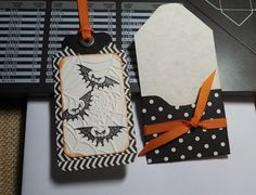 Halloween tag and holder