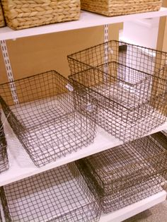 wire baskets at the Container Store