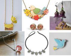 It finally feels like Spring is on it's way. Ceramic Jewelry, Jewerly, Washer Necklace, Kawaii, Ceramics, Spring, Accessories, Ceramica, Jewlery