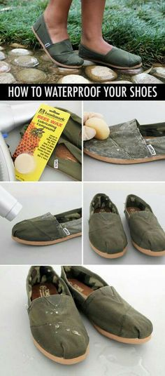 Diy water proof your shoes  ...