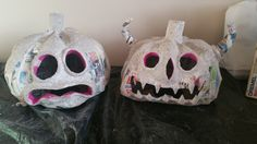 Paper mache clay is done! Now off to paint!