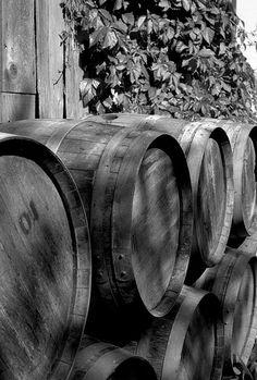 Wine Barrels in Retirement my husband makes beautiful furniture from wine barrels.