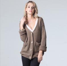 Fashion long-sleeved knit jacket 4840945
