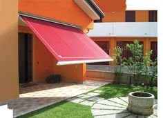 Provides optimum sun and weather protection. When not in use retracts back into a closed cassette to prolong fabric life. Exclusive to Vanguard Blinds Fabric Awning, Retractable Awning, Terrazzo, Blinds, Restaurant, Outdoor Decor, Html, Weather, Sun