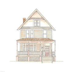 39. Porch House | Rebecca Horne, illustration