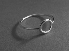 Circle Ring Stacking Rings Eternity Rings by FULLMOONJEWELLERY