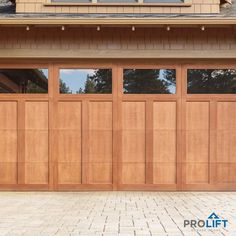 There are advantages and disadvantages to adding windows to your new garage door design. Here's what you need to know... | New Garage Doors With Windows: The Pros and Cons by ProLift Garage Doors of St. Lous | Blog Single Garage Door, Sliding Garage Doors, Garage Door Windows, Modern Garage Doors, Garage Door Styles, Overhead Garage Door, Garage Door Design, Garage House, Entry Doors