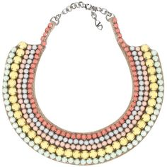 Valentino Garavani Watercolor necklace with stones ($487) ❤ liked on Polyvore featuring jewelry, necklaces, valentino, colares, accessories, multicolor, valentino jewelry, tri color jewelry, summer necklace and tri color necklace