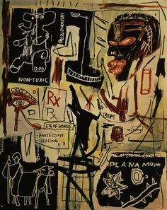 Jean-Michel Basquiat, Melting Point of Ice (Acrylic and crayon on canvas), 1984.