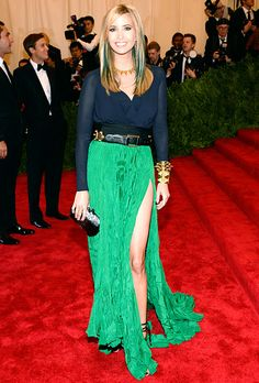 I actually really like her hair.  Met Gala 2013: Celebrity Costume Ball Red Carpet: Ivanka Trump
