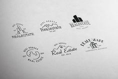 Real Estate Retro Vintage Badges by lovepower on Creative Market