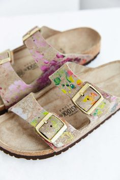 Birkenstock Flower Crush Arizona Slide Sandal - Urban Outfitters