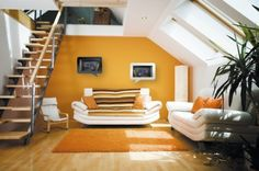 Mustard yellow accent wall - want to do this :))))))