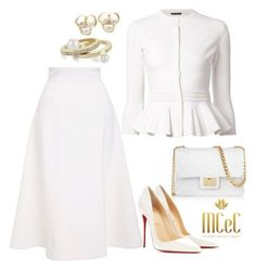 Image result for mulherescrentesechiques white dress outfits on polyvore