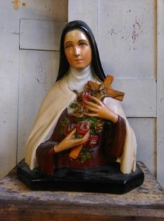Oud Antieke Religieus Beeld - Theresia (Theresa) van Lisieux