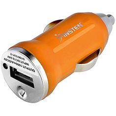 Insten Compatible with Apple iPhone X / 8 / 8 Plus / 7 / 7 Plus / 6S/ 6S Plus , Samsung Galaxy S7 Edge/ S7/ Note 4 Universal USB Mini Car Charger Adapter, Orange *** You can get more details by clicking on the image. (This is an affiliate link) #CarChargers