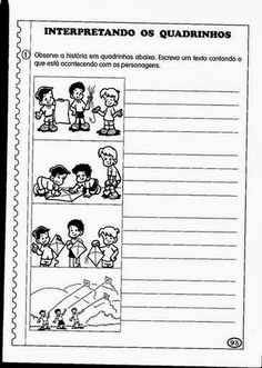 A produção de texto estimula o aluno a desenvolver sua criatividade, e hoje o EDUCAR X trás 100 atividades sobre produção de texto para impr... Diagram, Education, Comics, Homeschooling, Writing Activities, Abc Centers, Literacy Activities, Middle School Teachers, Reading