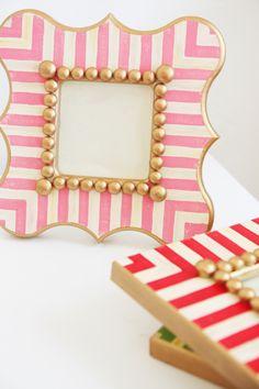 Product styling and photoshoots. Stripe handpainted frames by Ellington & Rose. www.pencilshavingsstudio.com