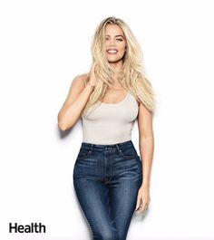 Happy and healthy in my @goodamerican denim for @healthmagazine