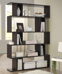 Look what I found on #zulily! Dark Brown Goodwin Five-Level Modern Bookshelf by Baxton Studio #zulilyfinds ** Use to separate living room and dining room?