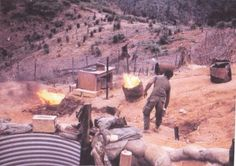 the smell that signifies Vietnam Base Camps, diesel fuel, kerosene, and the mix of human waste and paper from the barrels in the Latrine (Porta-Potty to civilians)  Yes,,,,I pulled that duty in CuChi.....wg.