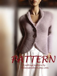 Women's blazer jacket knitting pattern knit by PillandPattern
