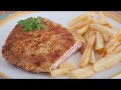 Cachopo de ternera. Receta asturiana paso a paso Mashed Potatoes, Chicken, Meat, Ethnic Recipes, Youtube, Food, Gastronomia, Ham And Cheese, Seafood