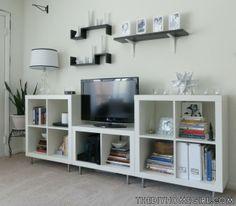 mueble tv con Kallax ikea. Más sencillo imposible