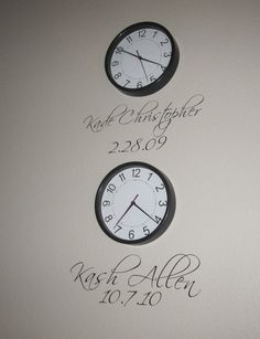 Children's Date & Time of Birth Wall Decor