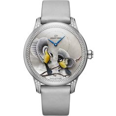 Jaquet Droz Petite Heure Minute Relief Season Automatic wrist watch in white gold and diamonds (ref. Cool Watches, Watches For Men, Ladies Watches, Female Watches, Woman Watches, Modern Watches, Stylish Watches, Swatch, Atelier D Art